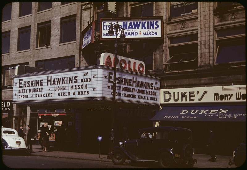 Series IV. Photographs. Color Slides. Places. New York City. Manhattan.  Picture of Apollo marquee.