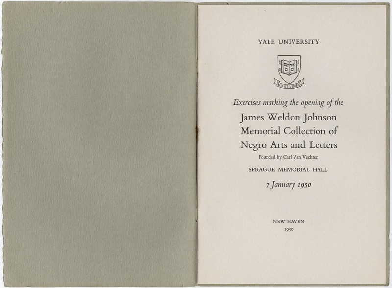 Title page with the name and date of the event.