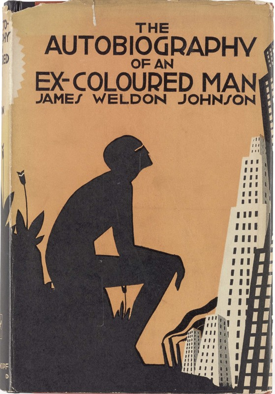 Aaron Douglas's cover for the 1927 reissue of James Weldon Johnson's Autobiography of an Ex-Coloured Man.