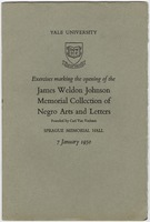 Blue cover page with the name and date of the event.