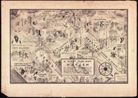 Detailed map of all of the nightclubs in Harlem, including street names and some drawings of patrons.
