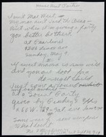 """Manuscript of """"House Rent Party"""" poem in Hughes' hand."""